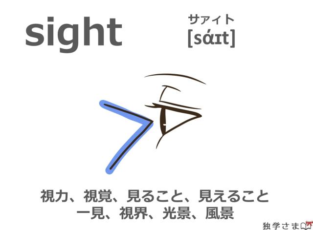 英単語『sight』イラスト・意味・カタカナ