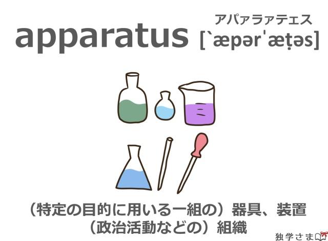 英単語『apparatus』イラスト・意味・カタカナ