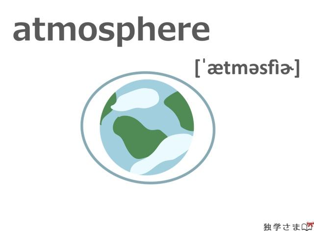 英単語『atmosphere』イラスト