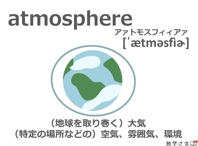 英単語『atmosphere』イラスト・意味・カタカナ