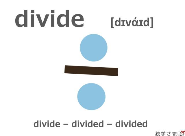 英単語『divide』イラスト