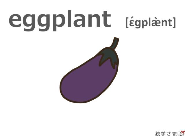 英単語『eggplant』イラスト