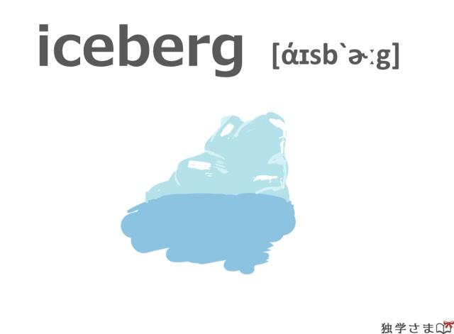 英単語『iceberg』イラスト