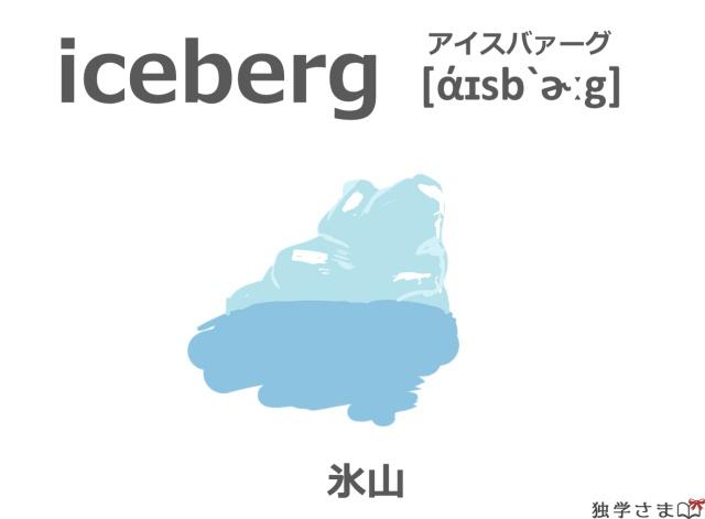 英単語『iceberg』イラスト・意味・カタカナ